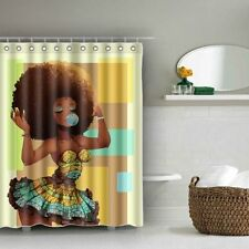 Afro Shower Curtain Waterproof, BAIXIN Black Girl Shower Curtains Set for with X