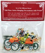 ANTIQUE CAR CHRISTMAS Ornament Decorations (Pkg of 6) MINT Sealed Rare Shackman