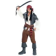 Da Uomo Deluxe Capitano Dei Pirati Adulti Capitano IL TAGLIAGOLE Halloween fantasia Abito Outfit