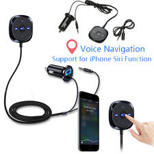 Wireless Bluetooth Car Kit Handsfree Phone Call Audio Music Receiver Adapter AUX