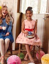 Mini Boden Pink Heart Jacquard Dress! NWOT! 11-12