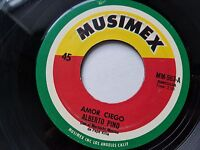 "ALBERTO PINO - Amor Ciego / Miedo 70's LATIN RANCHERA Mariachi Musimex 7"""