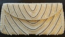 Vintage Pearl Italian and Sequined Evening Bag 1950s 1960s