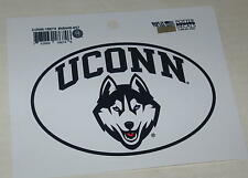 "UConn Huskies Classic Oval Car Sticker 5"" x 3.5"""