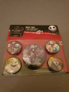Officially Licensed Disney the Nightmare Before Christmas 5 x Button Pin Badges