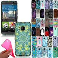 For HTC One M9 Phone TPU Flexible Silicone Gel Skin Rubber Back Case Cover