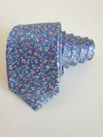 TED BAKER light Blue Floral Print Silk Tie