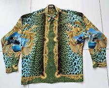 """GIANNI VERSACE """"MIAMI"""" 1993 Vintage Silk Shirt - Pristine & Amazing ! Men's XXL"""