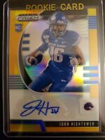 2020 Panini Prizm Draft Pick #258 John Hightower 17/149 Rookie Orange Auto RC SP