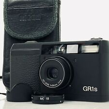 RICOH GR1s 28mm F2.8 Black 35mm Film Camera from JAPAN w/ Case Hood Filter [TK]