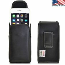 Turtleback iPhone 6 Vertical Leather Pouch Holster Black Clip Fits Fosman Case