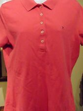 Tommy Hilfiger Women's Pink Polo  Top  Large