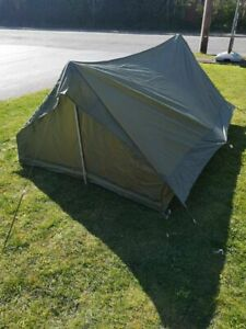 Brand New French Army F2 pup tent military Green lavvu