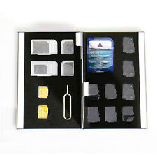 Micro SD TF MMC Memory Card Storage Box Protecter Case Holder Metal Aluminum HQ