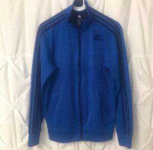 Adidas Climalite full zip blue track jacket Mens Small