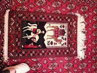 TURKMEN CARPET turkoman wool handmade carpet used mint condition