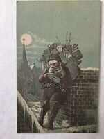 Vintage Victorian Advertising Trade Card Santa Claus A & P Tea Harrisburg, PA