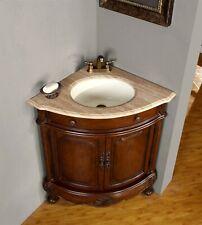 32-inch Travertine Stone Top Corner Sink Bathroom Vanity Bath Cabinet 0126TR