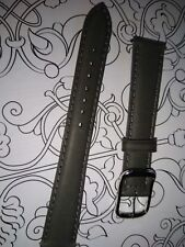 BRACELET  DE MONTRE watch band cuir Véritable VEAU /   GRIS  16mm  / FK 53