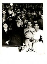 3 PHOTOS HALL OF FAMER JOE CRONIN INCLUDING OPENING DAY 1940 WITH PRESIDENT FDR