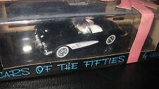 1/43 VITESSE CARS OF THE FIFTIES CHEVROLET CORVETTE BLACK ROOF DOWN GREAT MODEL