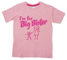 "Dirty Fingers infantil CAMISETA I'm EL BIG SISTER"" Niña Top Familia NUEVO Sister"