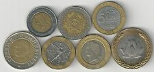 7 BI-METAL COINS from 7 DIFFERENT COUNTRIES (ARGENTINA to VENEZUELA) - Lot #2