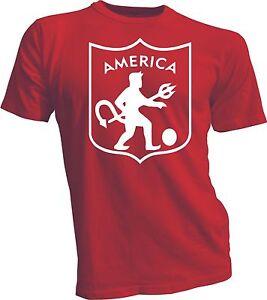 America de Cali Colombia Futbol Soccer Camiseta T Shirt handmade jersey red
