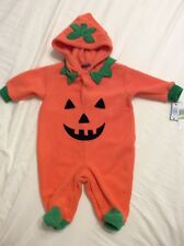 0-3 Month Pumpkin Jack-O-Lantern One Piece Coverall Outfit~Halloween Costume~NWT