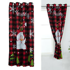 "63"" / 84"" Blackout Christmas Curtains Living Room Bedroom Grommet Xmas Decor"