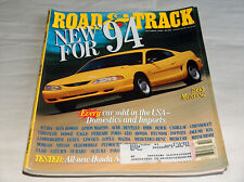Road & Track October 1993 Car Truck Magazine New For 94 1995 Ford Mustang