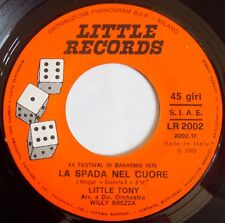 LITTLE TONY ~ RARE ITALY psych ROCK 45 on LITTLE RECORDS ~ HEAR IT
