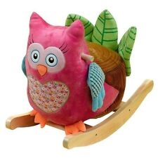 Rockabye 85050 Owlivia Pink Owl Musical Rocker for Ages 9mo-3yr 80lb Capacity