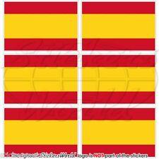 """SPAGNA BANDIERA civile spagnola 40 mm (1.6"""") Mobile Cellulare Mini Adesivi, Decalcomanie x6"""