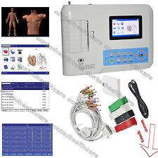 ECG300GT 3 macchina digitale ECG canale touch LCD a colori CE & FDA,garanzia 2A