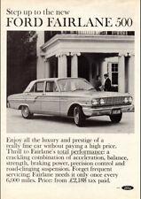 """1964 FD FORD FAIRLANE 500 SEDAN AD A4 CANVAS PRINT POSTER 11.7""""x8.3"""""""