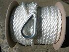 New 38 X 100 Twisted Nylon Anchor Line White
