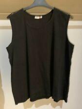 Damen Träger Top  /Shirt Gr. 48 Farbe schwarz