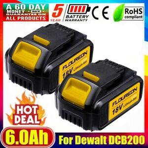2x 18V 6.0Ah Li-ion Battery for Dewalt DCD740B DCD785 DCB180 DCB182 DCB200 Drill
