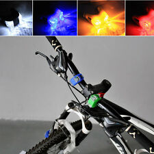 Frog 2x Silicone Bike Bicycle Cycling Head Front Rear Wheel LED Flash Light Lamp