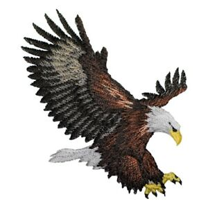 """Eagle Applique Patch - Flying, Landing, American Bald Eagle Bird 3.25"""" (Iron on)"""