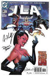 JLA 84 Signed by 4 DC Justice League Wonder Woman Superman Green Lantern Batman