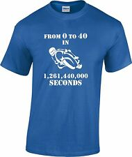 40 40 Birthday Motorista Moto Speedway Racer Divertida Regalo Camiseta