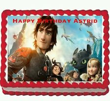 How to train a Dragon Birthday Party Edible Cake Topper 1/4 sheet
