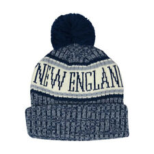 CityHunter New England Patriots Color Pom Pom Beanie Sideline Cuffed Knit Hat