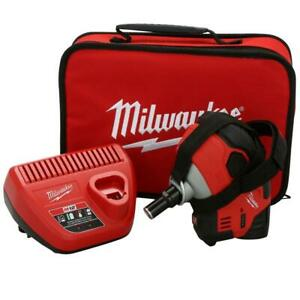 Milwaukee Cordless Palm Nailer Kit 12-Volt Lithium-Ion Battery/Tool Bag Included
