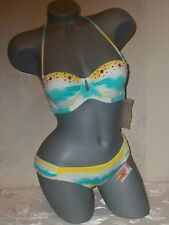 NWT Victoria Secret 34A S Embellished Tie Dye Bandeau Gorgeous Swimsuit Bikini