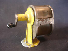 Old Vtg Apsco Midget Pencil Sharpener Yellow Rockford ILL USA