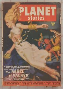 Planet Stories Fall 1950 Vol 4 No. 8 Pulp Fiction Coppel, Bradbury & Anderson