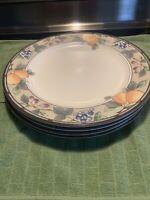 "MIKASA Intaglio GARDEN HARVEST CAC29 11"" Dinner Plates (4) *XLNT EUC*"